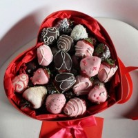 Sweets * Strawberries in chocolate * 18 pcs.