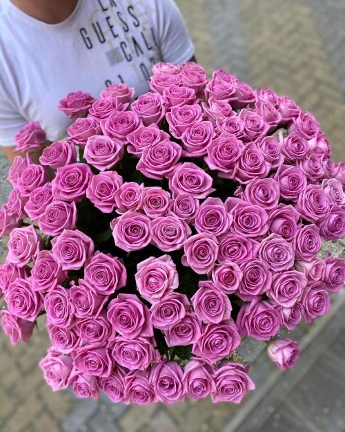 Букет Роз *Розовая роза* 101 шт