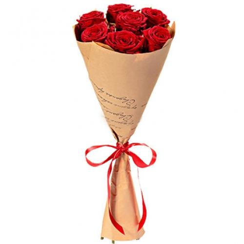 Букет Роз *Красная роза* 7 шт 60 см