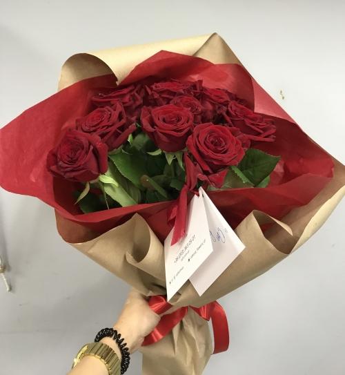 Букет Роз *Красная роза* 9 шт