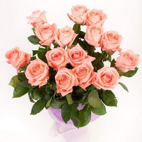 Букет Роз *Коралловая роза* 19 шт