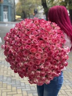 Букет Роз *Розовая Роза * 151 шт