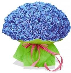 Букет Роз *Синяя роза* 99 шт