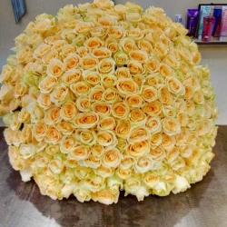 Букет Роз *Кремовая роза* 201 шт