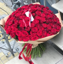 Bouquet of Roses *Red Rose* 151 pcs.