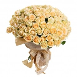 Букет Роз *Кремовая роза* 101 шт