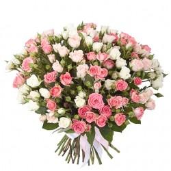 Букет *Кустовая Роза* 35 шт