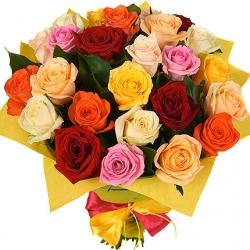 Букет Роз *Разноцветная роза* 25 шт