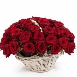 Basket *Red Roses* 51 pcs.