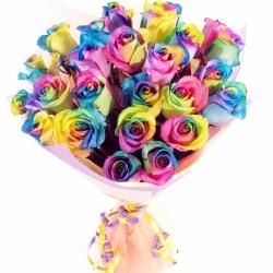 Букет Роз *Радужная роза* 25 шт