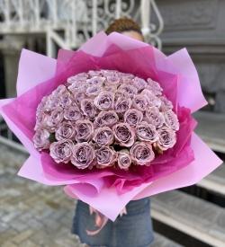 Букет Роз *Сиреневая роза* 51 шт