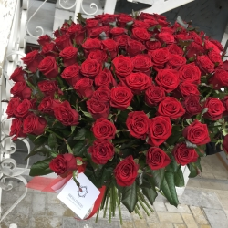 "NEW! 101 red rose 70 cm, grade ""Prestige"""