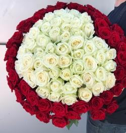 Bouquet of Roses *Heart * 101 pcs.