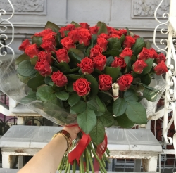 Bouquet of Roses *Red Rose* 51 pcs. (50 cm)