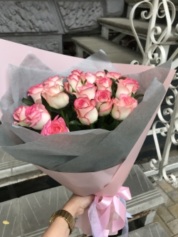 Bouquet of Roses *Pink Rose* 19 pcs. 50cm