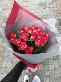 Bouquet of Roses *Red Rose* 19 pcs. 50cm
