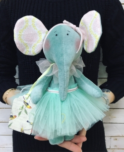 """Soft toy """"Elephant"""" № 1"""