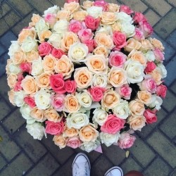 Bouquet of Roses *Multicolored Rose* 101 pcs.