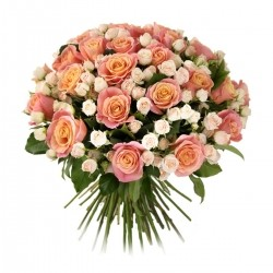 Bouquet of Roses *Bush and Pink Rose* 51 pcs.