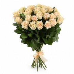 Bouquet of Roses *Beige Rose* 25 pcs.