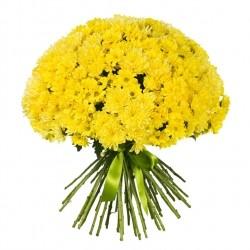 Букет *Желтая Хризантема* 31 шт
