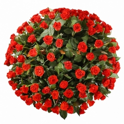Корзина *Красная Роза* 101 шт