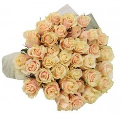 Bouquet of Roses *Beige Rose* 51 pcs.