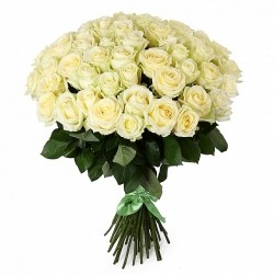 Bouquet of Roses *White Rose* 51 pcs.