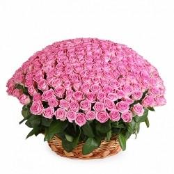 Корзина *Розовая Роза* 251 шт