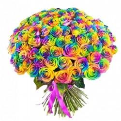 Букет Роз *Радужная роза* 99 шт