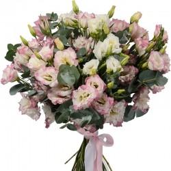 Букет *Розовая эустома* 25 шт